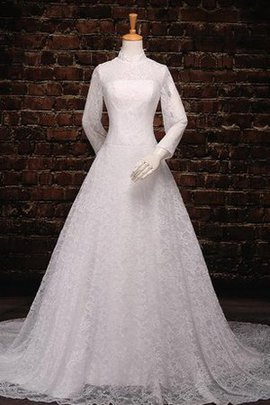 Off The Shoulder Tea Length Lace One Shoulder Wedding Dress