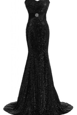 Sequins Mermaid Sleeveless Sweetheart Evening Dress