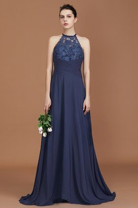 Sweep Train Lace Natural Waist Sleeveless Alluring A-Line Princess Bridesmaid Dress