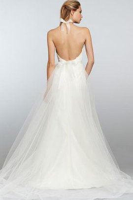 Sashes Sweep Train A-Line Tulle Simple Wedding Dress