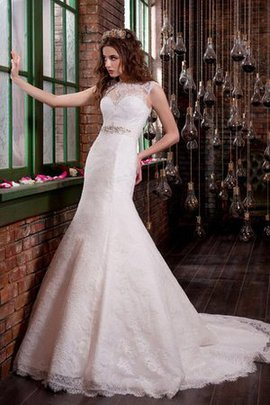 Lace-up Sleeveless Long Appliques Floor Length Wedding Dress