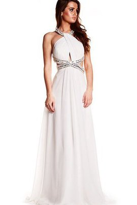 Beading Halter High Neck Sequined Vintage Prom Dress