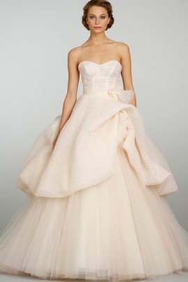 Tulle Sleeveless Sweep Train Ball Gown Natural Waist Wedding Dress