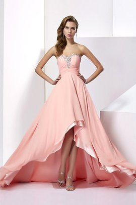 Sleeveless Long Natural Waist Chiffon Sweetheart Evening Dress
