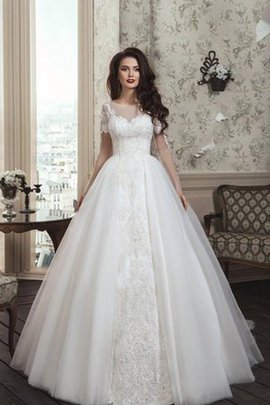 Long Button Sweetheart Bateau Romantic Wedding Dress