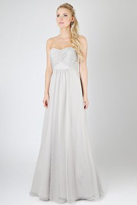 Cascading Ruffle Strapless A-Line Long Bridesmaid Dress