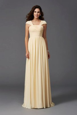 Sleeveless Chiffon Wide Straps Zipper Up Bridesmaid Dress