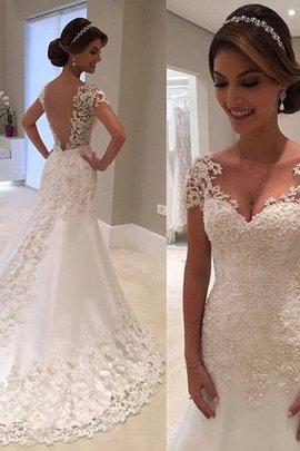 Hall Thin Natural Waist Excellent Apple Lace Romantic Wedding Dress