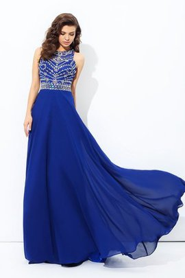 Sleeveless Long Floor Length Natural Waist Scoop Evening Dress