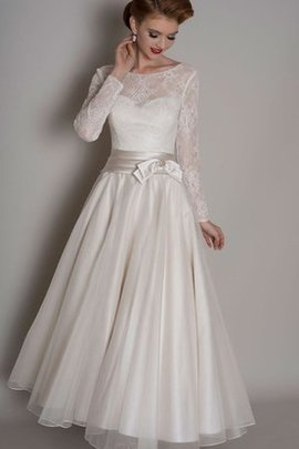 Simple Chic & Modern Vintage A-Line Lace Fabric Wedding Dress