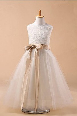Hourglass Tulle Apple Ball Gown Sleeveless Flower Girl Dress