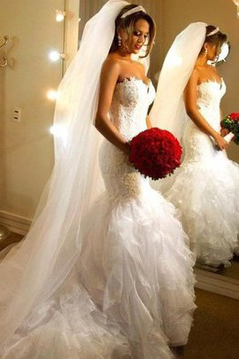 Elegant & Luxurious Sexy Ruffles Lace Organza Wedding Dress