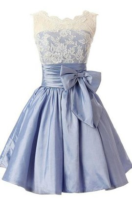 A-Line Pleated Bow Vintage Taffeta Homecoming Dress