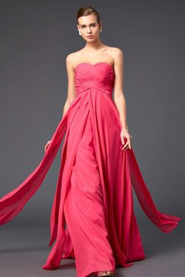 Long Sweetheart Chiffon Empire Waist Sweep Train Prom Dress