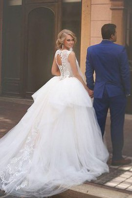Beading Court Train Jewel Sleeveless A-Line Wedding Dress