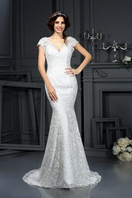 Mermaid Natural Waist Sleeveless Lace Long Wedding Dress