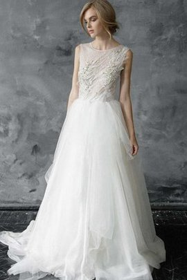 Jewel Beach A-Line Romantic Sleeveless Wedding Dress