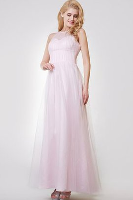 Sleeveless Elegant & Luxurious A-Line Simple Keyhole Back Bridesmaid Dress