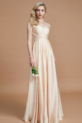 Ruched Princess Sleeveless Natural Waist Chiffon Bridesmaid Dress