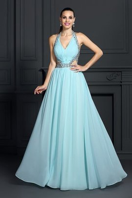 Princess Empire Waist Floor Length Chiffon Long Evening Dress