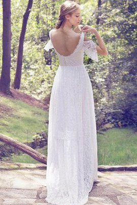 Off The Shoulder Short Sleeves Lace Capped Sleeves A-Line Wedding Dress
