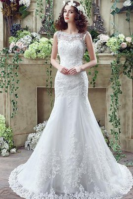 Scoop Modest Sweep Train Apple Church Wedding Dress