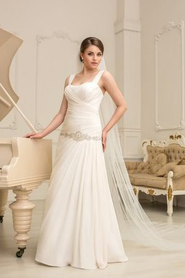 Plus Size Square Chiffon Sleeveless A-Line Wedding Dress