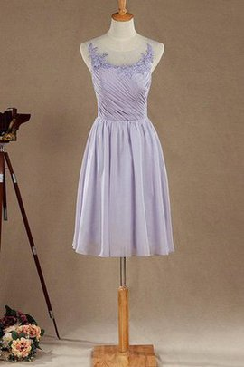Tea Length Informal & Casual Simple Lace Scoop Bridesmaid Dress