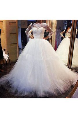 Lace-up Long Hall Misses Natural Waist Wedding Dress