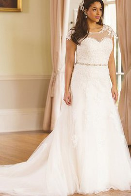 Button Appliques Jewel Deep V-Neck Elegant & Luxurious Wedding Dress