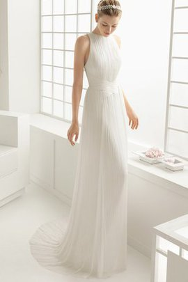 Chiffon Sweep Train Criss-Cross Ruched Elegant & Luxurious Wedding Dress