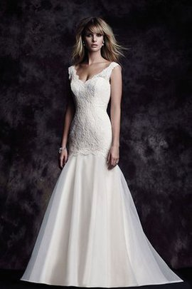 Elegant & Luxurious Church Floor Length Sweep Train Backless Wedding Dress