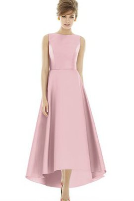 High Low Jewel Ruched Sleeveless Bridesmaid Dress