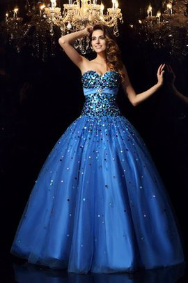 Floor Length Lace-up Sweetheart Beading Empire Waist Quinceanera Dress