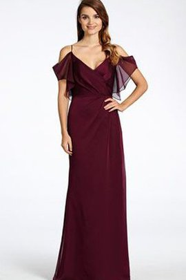 Backless Ruched Sleeveless Spaghetti Straps Bridesmaid Dress