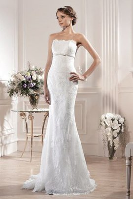 Sheath Simple Chapel Train Long Floor Length Wedding Dress