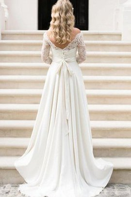 Romantic Court Train Chic & Modern Lace Wedding Dress