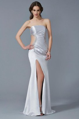 Sweep Train Beading Long Sleeveless Natural Waist Evening Dress