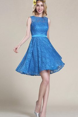 Lace Fabric Bateau 2 Piece Ruched Ruffles Homecoming Dress