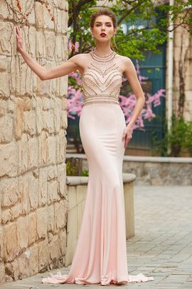 Sleeveless Zipper Up Natural Waist Sheath Scoop Evening Dress
