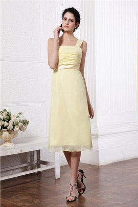 Wide Straps Draped Short Sleeveless Bridesmaid Dress