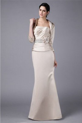 Strapless Natural Waist Sheath Beading Sleeveless Mother Of The Bride Dress