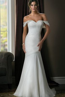 Ruched Informal & Casual Tulle Criss-Cross Natural Waist Wedding Dress
