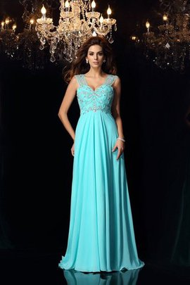 A-Line Sweetheart Sweep Train Empire Waist Prom Dress