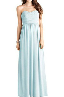 Long Strapless Floor Length A-Line Ruched Bridesmaid Dress