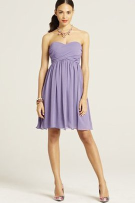 Chiffon Pleated Sweetheart Short Ruched Bridesmaid Dress
