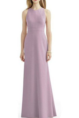 Chiffon Sleeveless Sheath Floor Length Keyhole Back Bridesmaid Dress