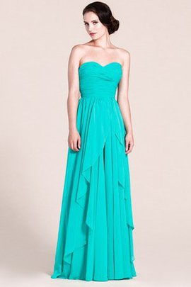 Tiered Chiffon Sweetheart Floor Length A-Line Bridesmaid Dress