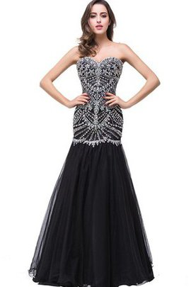 Sexy Zipper Up Sweetheart Mermaid Crystal Evening Dress