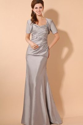 Ruched Criss-Cross Taffeta Floor Length Evening Dress